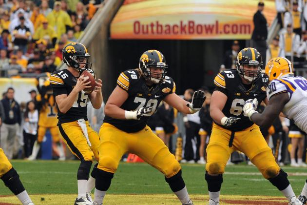Iowa's Offensive Line Ranked No. 1 in Big Ten