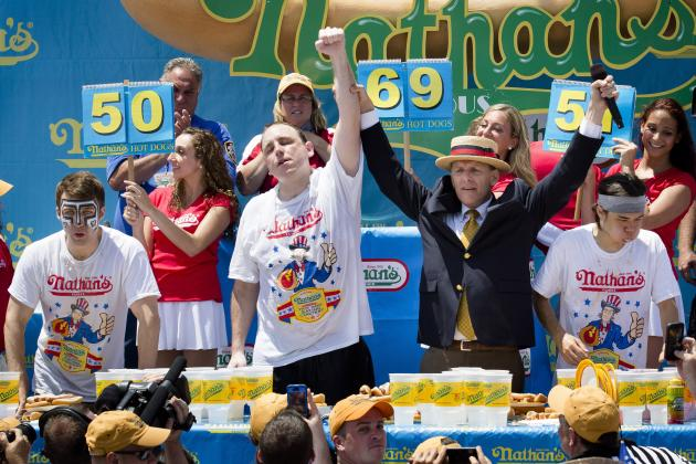 Nathan's Hot Dog Eating Contest 2014: Men's, Women's All-Time Results, Records