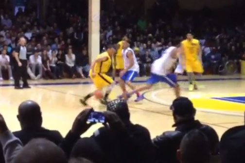 Watch: Steph Crosses over Opponent at Pro-Am