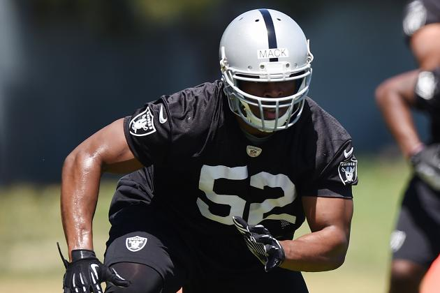 Khalil Mack Aims to Win Rookie of the Year, Put Peyton on His Back