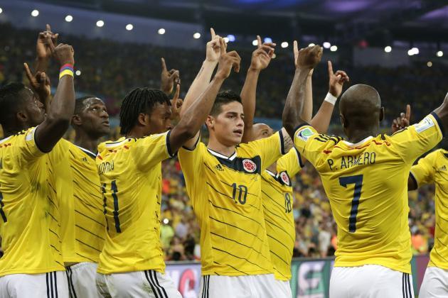 Colombia's New Stars Can Overcome History in World Cup Quarter-Final vs. Brazil