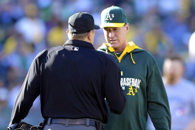 Athletics Play Game Under Protest After Controversial Call vs. Blue Jays