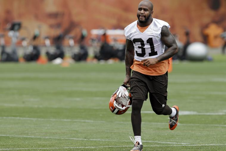 Donte Whitner Riles Up Bills Fans, Challenges Darryl Talley to Boxing Match