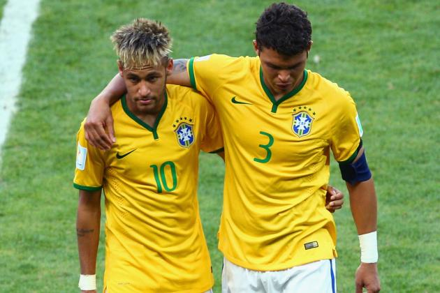 Twitter Reacts to Neymar, Thiago Silva's Performance vs. Colombia