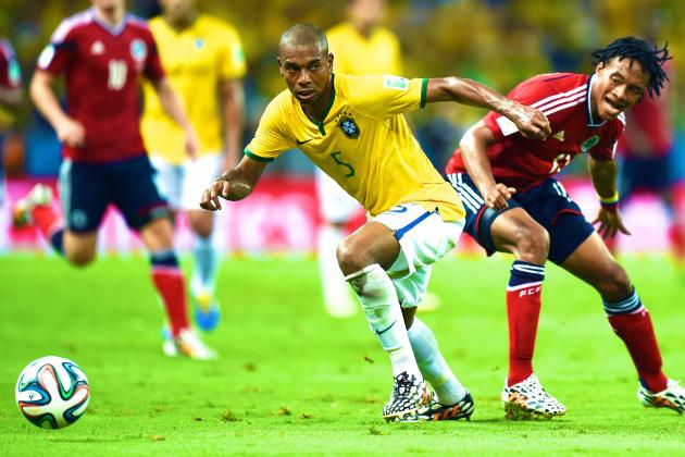 Fernandinho Shows Destructive Side to See Brazil Past Colombia