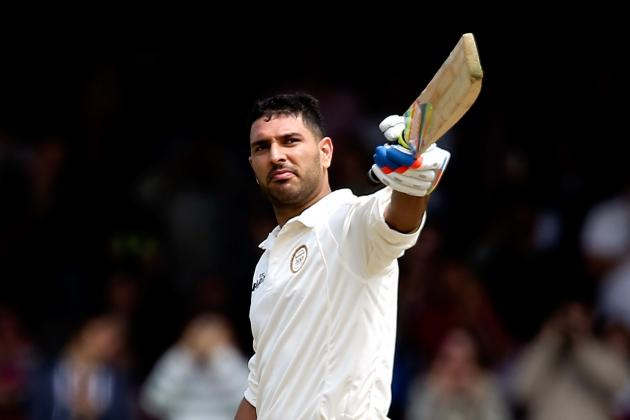 Yuvraj Singh's Ton Takes RoW to 293/7 in Lord's Bicentenary Match Against MCC