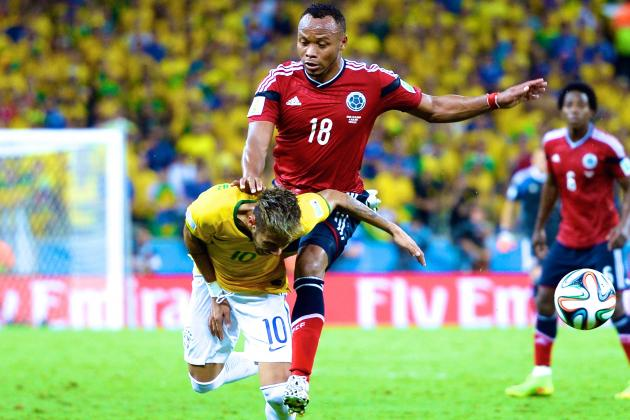 Neymar Ruled out of 2014 World Cup After Fracturing Vertebra vs. Colombia