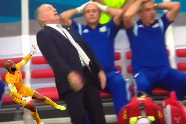Argentina Coach Alejandro Sabella and His Almost Fall Gets the Meme Treatment