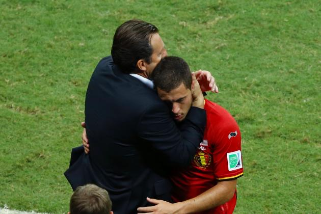 Wilmots Fails to Get the Best from Eden Hazard and Belgium at the World Cup