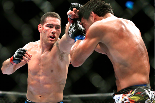 UFC 175 Results: Chris Weidman Proves His Point, Holds Off Game Lyoto Machida