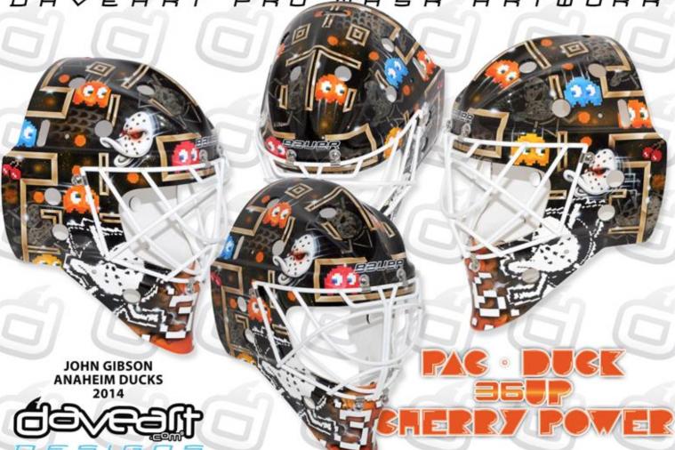 Anaheim Ducks Goalie John Gibson Has Sweet Pac-Man Mask
