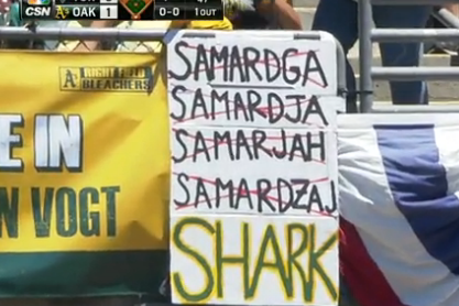 Oakland A's Fans Give Up Trying to Spell 'Samardzija'