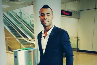 Image: Ashley Cole Arrives in Rome