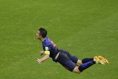 Robin van Persie's Headed Goal vs. Spain Turned into a Coin in the Netherlands