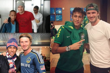 Neymar and David Beckham Pics Go Way Back as England Star Wishes Brazilian Well