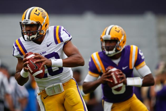LSU Football 2014 Quarterback Fall Practice Preview: Depth Chart and Analysis