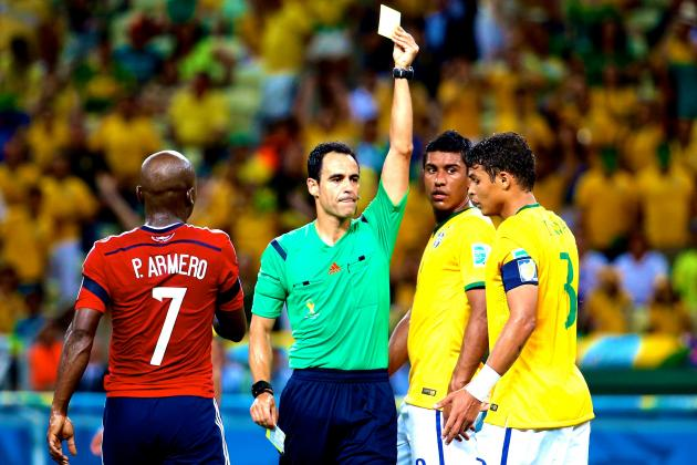 Thiago Silva Suspended 1 Match After Yellow Card vs. Colombia