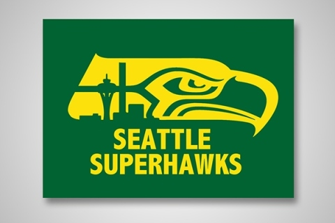 Designer's Blending of NFL Logos with NBA Logos Creates Fantastic Results
