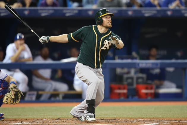 Athletics' Brandon Moss Has Team's Highest RBI Total Before Break Since 2000