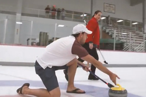 Red Wings Rookies Go Curling in Flip-Flops to Build Camaraderie