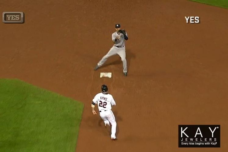 Derek Jeter Sets Up Easy Double Play by Faking Out Jason Kipnis at Second Base
