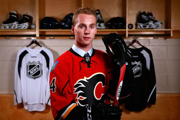 Bennett, Gaudreau Wow Spectators at Flames Camp Scrimmage