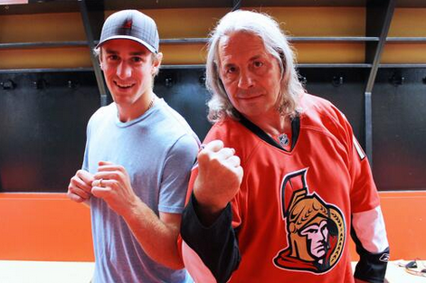Kyle Turris Meets Bret 'The Hitman' Hart