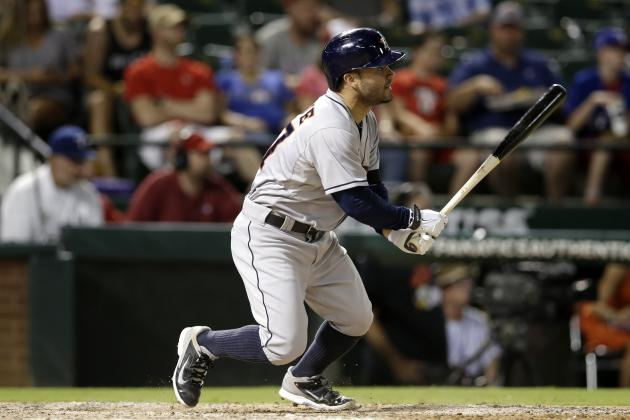 Astros' Jose Altuve Sets Franchise Record for Hits Before All-Star Break