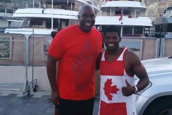 Magic Johnson Met (And Dwarfed) P.K. Subban in Monaco