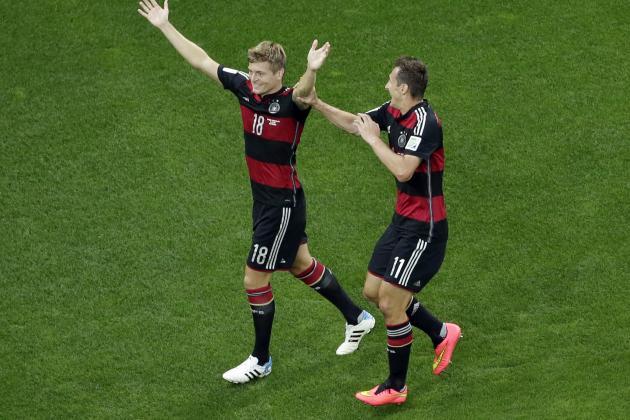 Twitter Reacts to Toni Kroos, Miroslav Klose's Performance vs. Brazil