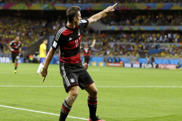 Germany's Miroslav Klose Becomes All-Time Leading World Cup Goalscorer