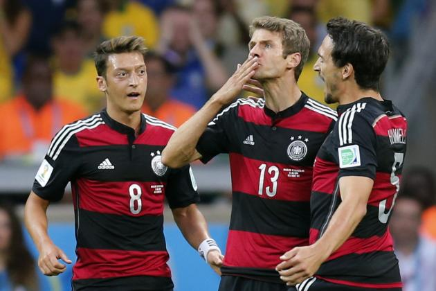 Thomas Mueller Becomes 2nd Player to Score 5 Goals at Consecutive World Cups