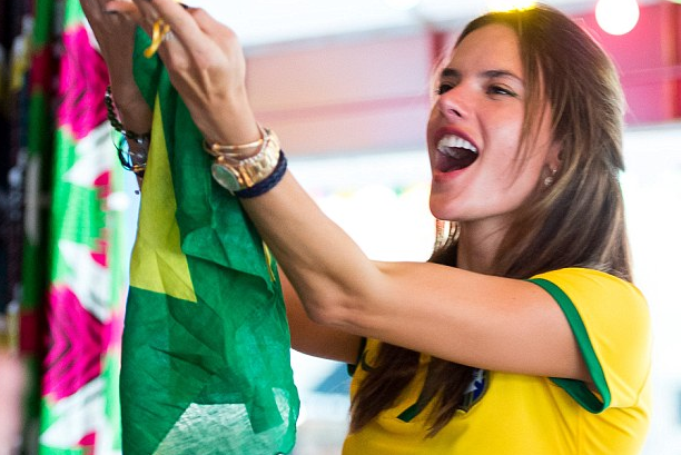 Alessandra Ambrosio and Adriana Lima Watch as Germany Beat Brazil