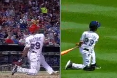 Swing of Adrian Beltre's Son: Not Unlike the Swing of Adrian Beltre