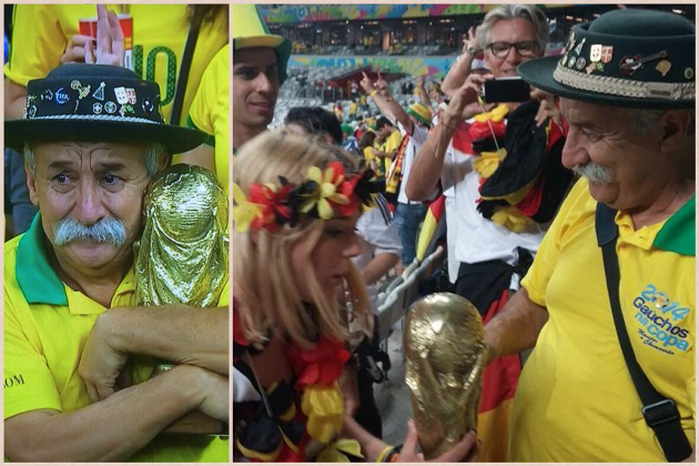 Sad Brazilian Fan Reportedly Gave His Trophy to a Germany Fan
