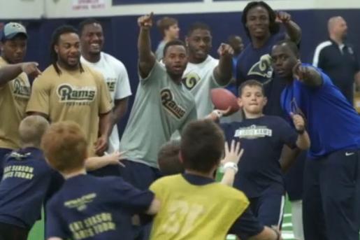 Rams Rookies Visit Rams Training Academy