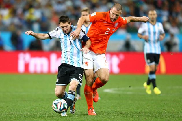Netherlands vs. Argentina: Vlaar and Mascherano Shine in Defensive Stalemate