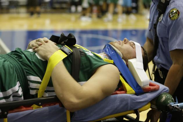 Bertans Stretchered Off in Summer League