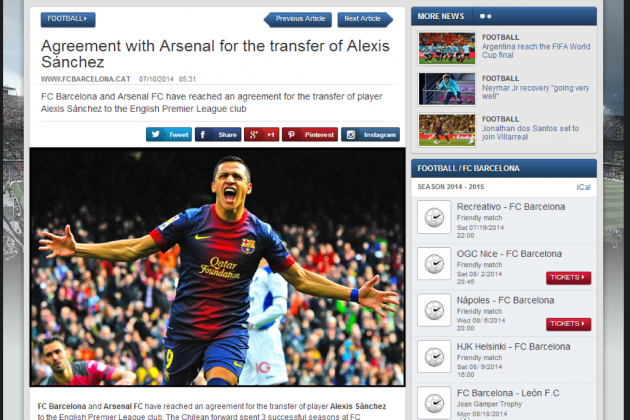 Alexis Sanchez Transfer Rumours: Latest Gossip Surrounding Barcelona Star