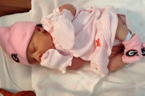 Richt's Granddaughter Already Sporting UGA Gear
