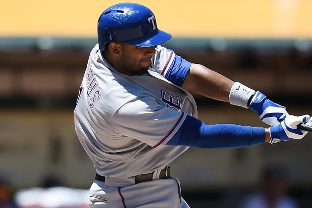 Elvis Andrus Leaves After Being Spiked in Ankle Turning DP