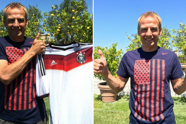 Image: Klinsmann Supports Home Country