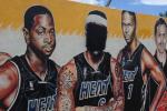 Heat Fans Burn LBJ Jerseys, Deface Heat Mural