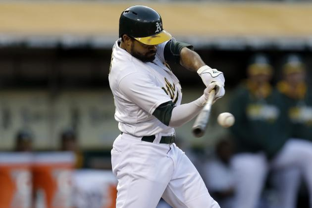Crisp, Céspedes Sitting vs. Mariners