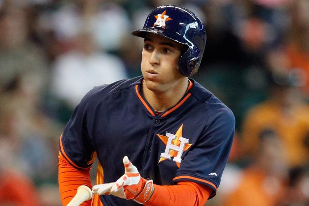 Astros' Springer (knee) Held out of Lineup