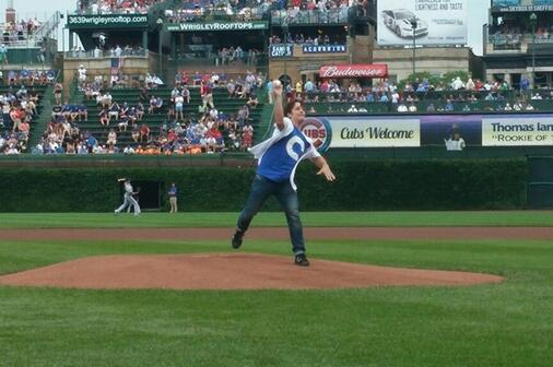 Henry Rowengartner Returns to Wrigley Field to Throw Out First Pitch