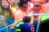 Robin Van Persie Gave His Medal and Armband to a N…
