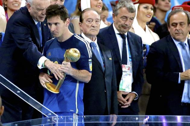 Lionel Messi Wins Golden Ball at 2014 World Cup