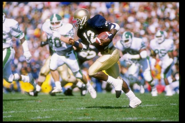 Ricky Watters Makes Good on Plan to Finish Degree at Notre Dame