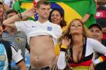 England Fan Mocks Posing German Fan